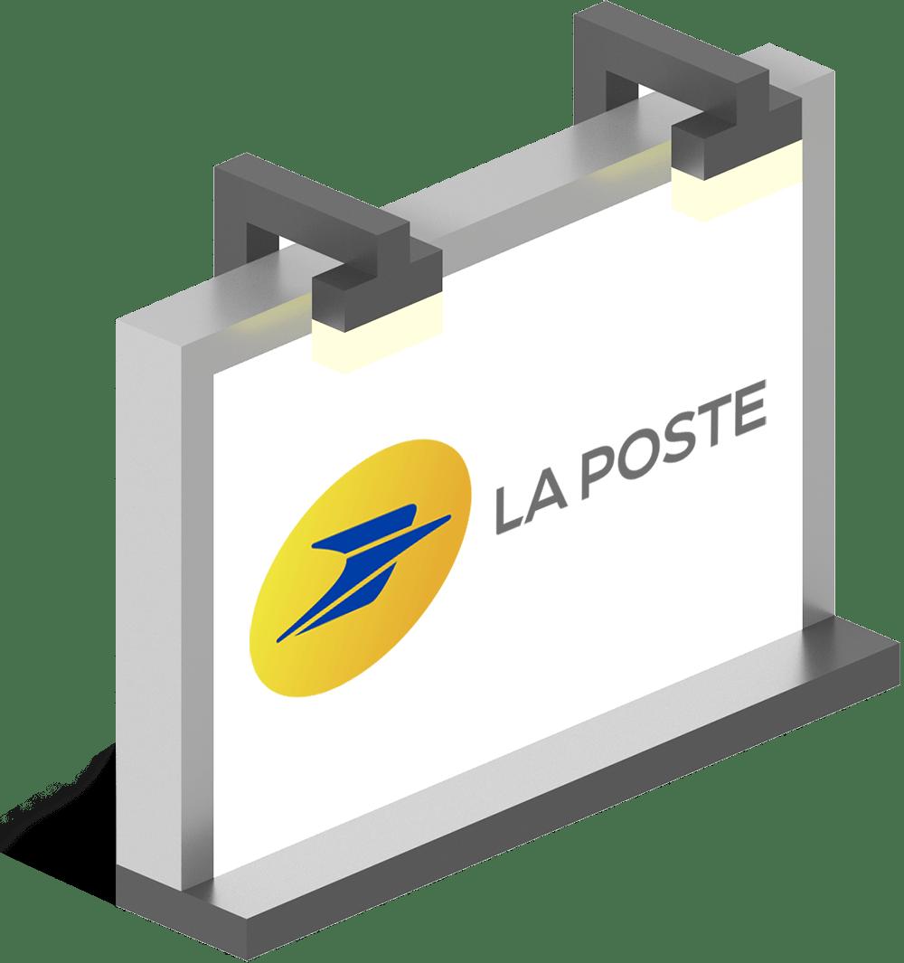 Logo mockup La Poste