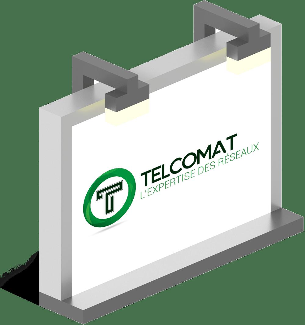 Logo mockup Telcomat